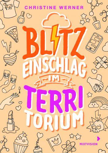 """Bucheinband:""""Blitzeinschlag im TerriTorium"""""""